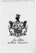 EX LIBRIS-DOCTEUR DE CAZENEUVE-HÉRALDIQUE