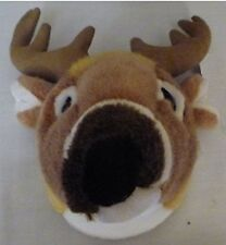 "11"" White Tailed Deer Head Plush Stuffed Animal Toy Item Descriptions/Informati"