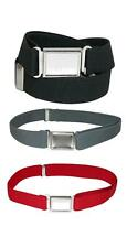 New Ctm Kids' Adjustable Elastic Belt with Magnetic Buckle (Pack of 3 Colors)