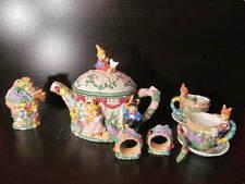 Bunny Rabbit Family Tea Set Easter Rabbit Tea Party Set For Two
