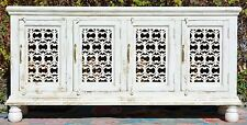 White Shabby Chic Buffet French Country Wrought Iron Cabinet Timber Sideboard