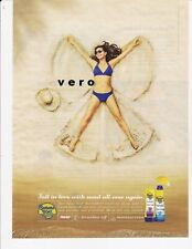 BANANA BOAT ad magazine print page clipping 2016 vtg SEXY LADY SAND (snow) ANGEL