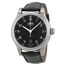ORIS klassisch Datum automatische Schwarz Dial Steel Herrenuhr 01 733 7594 4094 07 5