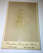 Antique Cabinet Photo Younger Gentleman Dandy W/ Fancy Mustache, Suit, Tie! MA!