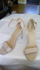 Red or Dead blush/ nude leather strap sandals, size 40/UK7. RRP:£90.00