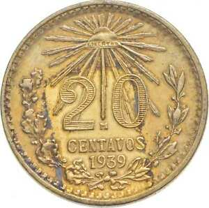 Better - 1939 Mexico 20 Centavos - TC *926