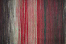 """Horizon Stripe"" soft furnishing fabric by John Lewis, red, remnant of 1.3m"