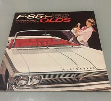 1962 Oldsmobile F85 Cutlass Sales Brochure MINT