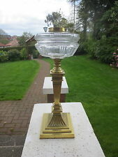 HEAVY CAST BRASS VICTORIAN MESSENGERS DUPLEX OIL LAMP BASE AND FOUNT