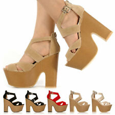 Block Party Faux Suede Strappy, Ankle Straps Heels for Women