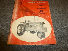 International McCormick Farmall 806 Tractor Owner Operator Maintenance Manual