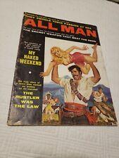 All Man Magazine, 1961 January, #2, Nazi, torture, GGA, pulp, men's adventure