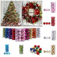 24Pcs/Pack Christmas Tree Xmas Balls Decorations Baubles Party Wedding Ornament