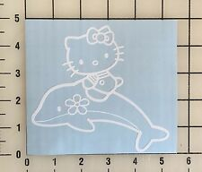 "Hello Kitty Dolphin 5"" Wide White Vinyl Decal Sticker - Free Shipping"