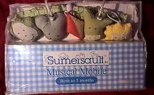NEW! Sumersault Musical Mobile RARE! Music Box w/ On/Off Switch Toy Chest Design