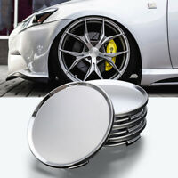 4Pcs Universal Chrome Car Center Caps Wheel Tyre Rim Hub Cap Cover 63mm