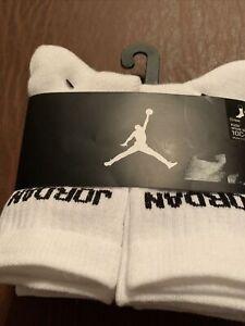 NIKE Air Jordan 6 Pack Crew Socks NEW XS Boys Sock Size 5-7 Shoe Size 10C-3Y