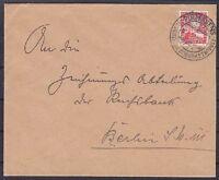 DR Mi Nr. 373 EF Brief mit SST Pirmasens Schuhmetropole - Berlin 1926
