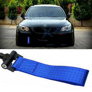Racing Tow Strap Hook Blue For BMW Exx 1/3/5/6/X5/X6 Z3 Z4 Series 1996-2012