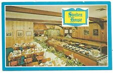 SWEDEN HOUSE SMORGASBORD Advertising Postcard