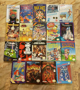19 Nes Nintendo Games And Boxes Lot Some CIB Complete Life force Double Dragon!
