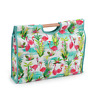 Hobby Gift 'Flamingos' Craft Bag with Wooden Handle 11 x 42 x 30cm (d/w/h)