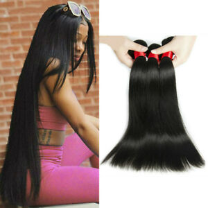 50G Per Bundle Straight Human Hair 1/3/4 Bundles Brazilian Human Hair Weave Weft