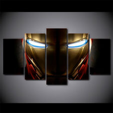 HD 5 Pieces Canvas Paintings Printed Iron Man Helmet Movie Wall Art Print Canvas