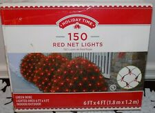Holiday Time 150 Red Net Lights 4 x 6ft Long Mib