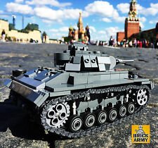Custom brick model WW2 Panzer III Ausf. j German tank 640 pieces+instruction