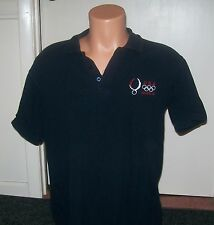 Beijing 2008 Olympic Games Medium Black Polo Shirt
