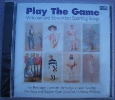 PLAY THE GAME Victorian Edwardian Sporting Songs NEW SEALED Ian Partridge FOLK
