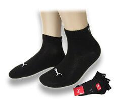 6 Paar PUMA Sneaker oder Quarter Socken Kurzsocken, UNISEX, black/ schwarz (200)