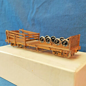 Old Stock ON3 BRASS Wheel & Tie Car Japan - NOS