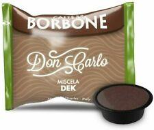100 Capsule Caffè Borbone Don Carlo Decaffeinato Compatbile Lavazza a Modo mio