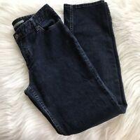 J.Jill Jeans Sz 8 Dark Wash Stretch Authentic Fit Below Waist Straight Leg