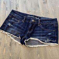 Womens NEW AE American Eagle Cut off Festival Denim Shortie Jean Shorts 8 NWT!