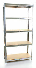 Metal Garage Heavy Duty Boltless Shelving Storage Industrial Racking 5 TIER