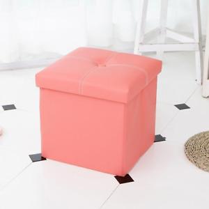 Storage Box Storage Stool Foldable Storage Box 12 Inch Sofa Footrest Foot Stool