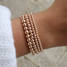 Women Bohemian Gold Filled Beads Beaded Beaded Stretch Stackable Bracelets 4-8mm