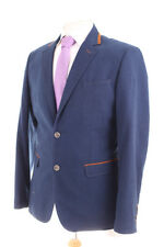 VOEUT MILANO BLUE with SUEDETTE TRIM MEN'S SPORTS JACKET 40L DRY-CLEANED