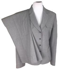 TAHARI Women 2 PC Gray Pant Suit Size 12