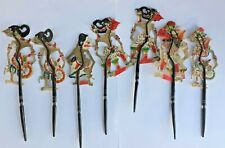 ANTIQUE HAND MADE INDONESIAN JAVA SHADOW PUPPETS