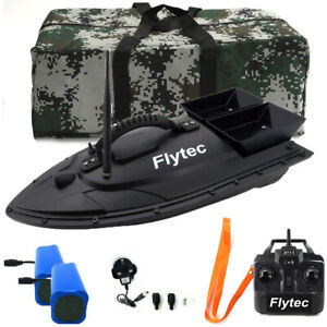 500M Black Wireless RC Fishing Bait Boat Finder With Camo Bag + 2 Spare Battery