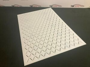 Car Upholstery / Trimming  stitch 35x55 diamond pattern template 3mm acrylic.