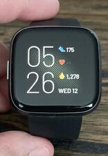 Fitbit Fb507Bkbk Versa 2 Smartwatch, Black/Carbon.