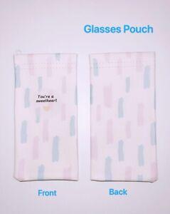 Faux Leather Sunglass Eyeglasses Glasses Snap Shut Soft Pouch - Watercolour