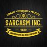 SARCASM INC. Sarkasmus Ironie Spaß Fun Gelb Auto Vinyl Decal Sticker Aufkleber