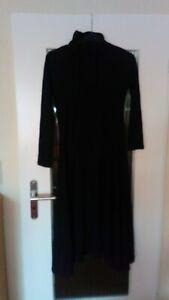 Gothic Emo Kleid Damen Kapuze Lang Maxi Hoodie Kleid Jacket Mantel Punk Rave