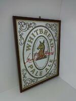 Original Pub Advertising Mirror James Whitbread Pale Ale Scotland Vintage Signs